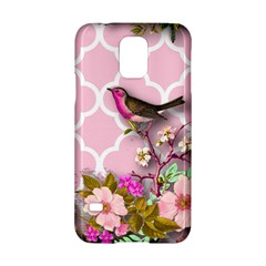Shabby Chic,floral,bird,pink,collage Samsung Galaxy S5 Hardshell Case  by 8fugoso