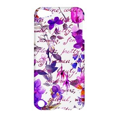 Ultra Violet,shabby Chic,flowers,floral,vintage,typography,beautiful Feminine,girly,pink,purple Apple Ipod Touch 5 Hardshell Case by 8fugoso