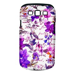 Ultra Violet,shabby Chic,flowers,floral,vintage,typography,beautiful Feminine,girly,pink,purple Samsung Galaxy S Iii Classic Hardshell Case (pc+silicone) by 8fugoso