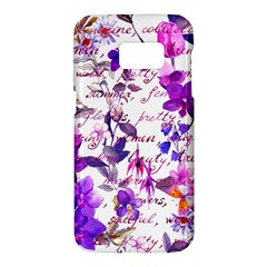 Ultra Violet,shabby Chic,flowers,floral,vintage,typography,beautiful Feminine,girly,pink,purple Samsung Galaxy S7 Hardshell Case  by 8fugoso