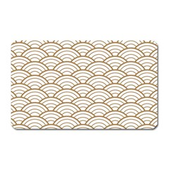 Gold,white,art Deco,vintage,shell Pattern,asian Pattern,elegant,chic,beautiful Magnet (rectangular) by 8fugoso