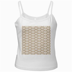 Gold,white,art Deco,vintage,shell Pattern,asian Pattern,elegant,chic,beautiful Ladies Camisoles by 8fugoso