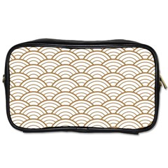 Gold,white,art Deco,vintage,shell Pattern,asian Pattern,elegant,chic,beautiful Toiletries Bags 2 Side by 8fugoso