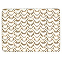 Gold,white,art Deco,vintage,shell Pattern,asian Pattern,elegant,chic,beautiful Samsung Galaxy Tab 7  P1000 Flip Case