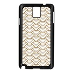 gold,white,art deco,vintage,shell pattern,asian pattern,elegant,chic,beautiful Samsung Galaxy Note 3 N9005 Case (Black) Front
