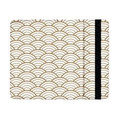 Gold,white,art Deco,vintage,shell Pattern,asian Pattern,elegant,chic,beautiful Samsung Galaxy Tab Pro 8 4  Flip Case by 8fugoso