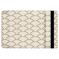 Gold,white,art Deco,vintage,shell Pattern,asian Pattern,elegant,chic,beautiful Ipad Air 2 Flip by 8fugoso