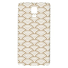 Gold,white,art Deco,vintage,shell Pattern,asian Pattern,elegant,chic,beautiful Galaxy Note 4 Back Case by 8fugoso