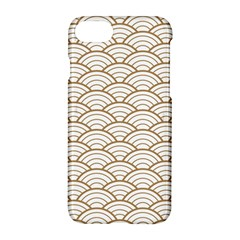 Gold,white,art Deco,vintage,shell Pattern,asian Pattern,elegant,chic,beautiful Apple Iphone 8 Hardshell Case