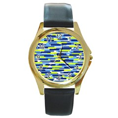 Fast Capsules 5 Round Gold Metal Watch by jumpercat