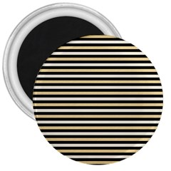 Black And Gold Stripes 3  Magnets by jumpercat