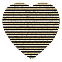 Black And Gold Stripes Jigsaw Puzzle (heart)