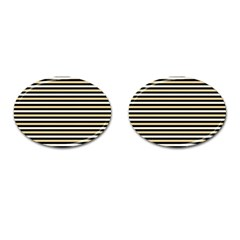 Black And Gold Stripes Cufflinks (oval)