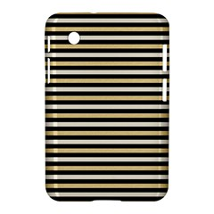 Black And Gold Stripes Samsung Galaxy Tab 2 (7 ) P3100 Hardshell Case