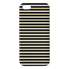 Black And Gold Stripes Iphone 5s/ Se Premium Hardshell Case by jumpercat