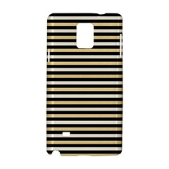 Black And Gold Stripes Samsung Galaxy Note 4 Hardshell Case