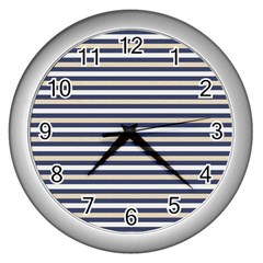Royal Gold Classic Stripes Wall Clocks (silver)