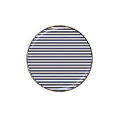 Royal Gold Classic Stripes Hat Clip Ball Marker by jumpercat