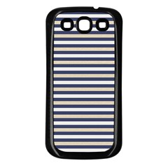 Royal Gold Classic Stripes Samsung Galaxy S3 Back Case (black) by jumpercat