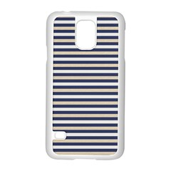 Royal Gold Classic Stripes Samsung Galaxy S5 Case (white)
