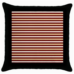 Gold And Wine Throw Pillow Case (black)