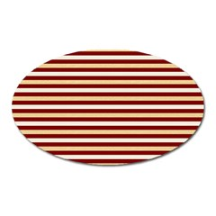 Gold And Wine Oval Magnet