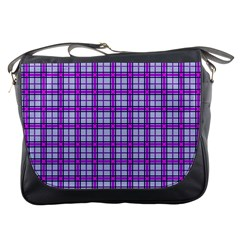 Purple Tartan Messenger Bags by jumpercat