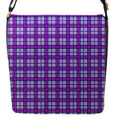 Purple Tartan Flap Messenger Bag (s) by jumpercat