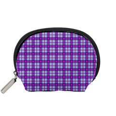 Purple Tartan Accessory Pouches (small)  by jumpercat