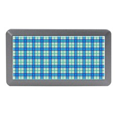 Sea Tartan Memory Card Reader (mini) by jumpercat