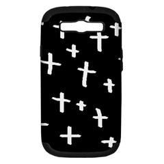 White Cross Samsung Galaxy S Iii Hardshell Case (pc+silicone)
