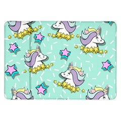 Magical Happy Unicorn And Stars Samsung Galaxy Tab 8 9  P7300 Flip Case by allthingseveryday