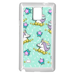 Magical Happy Unicorn And Stars Samsung Galaxy Note 4 Case (white) by allthingseveryday