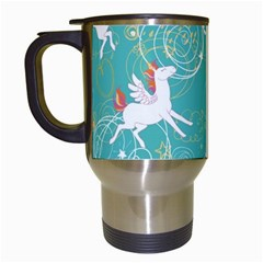 Magical Flying Unicorn Pattern Travel Mugs (white) by allthingseveryday