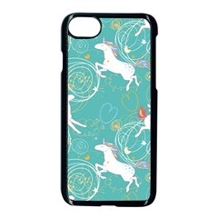 Magical Flying Unicorn Pattern Apple Iphone 7 Seamless Case (black) by allthingseveryday
