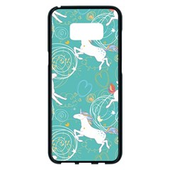 Magical Flying Unicorn Pattern Samsung Galaxy S8 Plus Black Seamless Case by allthingseveryday