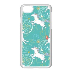 Magical Flying Unicorn Pattern Apple Iphone 8 Seamless Case (white)