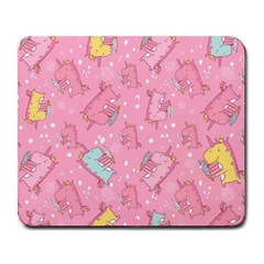 Unicorns Eating Ice Cream Pattern Large Mousepads by allthingseveryday