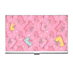 Unicorns Eating Ice Cream Pattern Business Card Holders by allthingseveryday