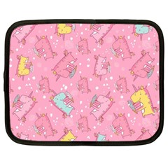 Unicorns Eating Ice Cream Pattern Netbook Case (large) by allthingseveryday