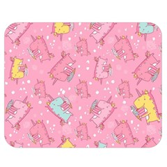 Unicorns Eating Ice Cream Pattern Double Sided Flano Blanket (medium)  by allthingseveryday