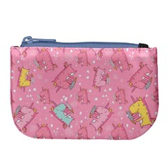 Unicorns Eating Ice Cream Pattern Large Coin Purse by allthingseveryday