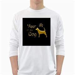 Year Of The Dog   Chinese New Year White Long Sleeve T Shirts
