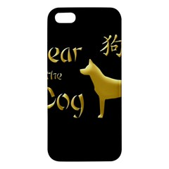 Year Of The Dog   Chinese New Year Apple Iphone 5 Premium Hardshell Case by Valentinaart