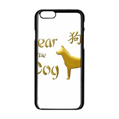 Year Of The Dog   Chinese New Year Apple Iphone 6/6s Black Enamel Case by Valentinaart