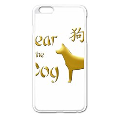 Year Of The Dog   Chinese New Year Apple Iphone 6 Plus/6s Plus Enamel White Case by Valentinaart
