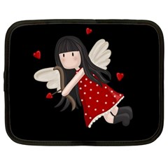 Cupid Girl Netbook Case (large) by Valentinaart