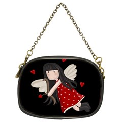 Cupid Girl Chain Purses (two Sides)  by Valentinaart