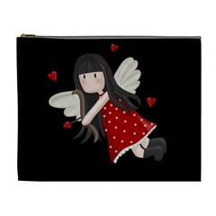 Cupid Girl Cosmetic Bag (xl) by Valentinaart