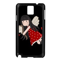 Cupid Girl Samsung Galaxy Note 3 N9005 Case (black) by Valentinaart
